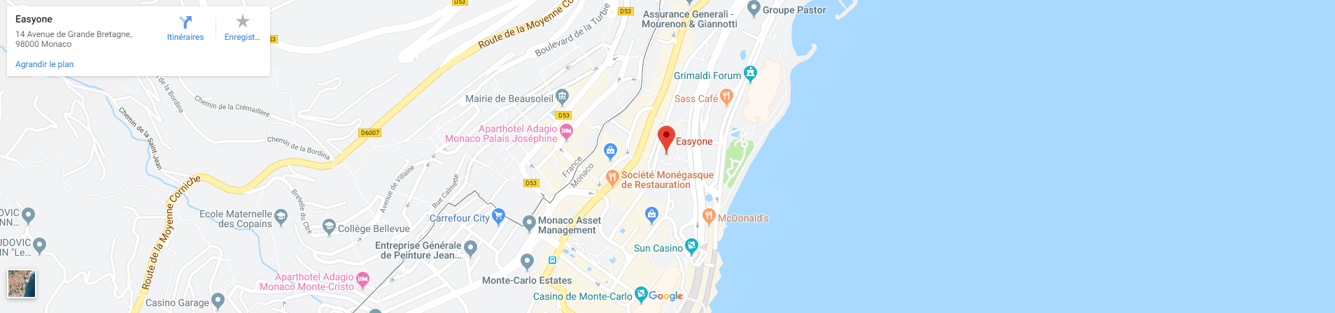EasyOne on a map ! Find us